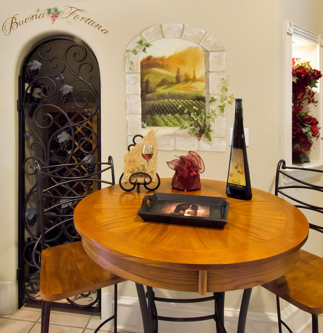 Wine rooms gallery for d r moss quality custom homes d for Wine rooms in homes